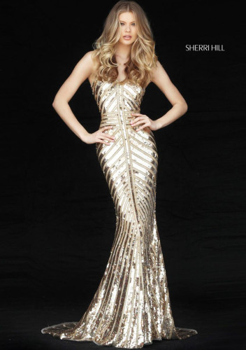 Sherri Hill51206 gold
